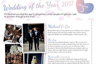 We're in Wedding of the Year 2017, Vote Now
